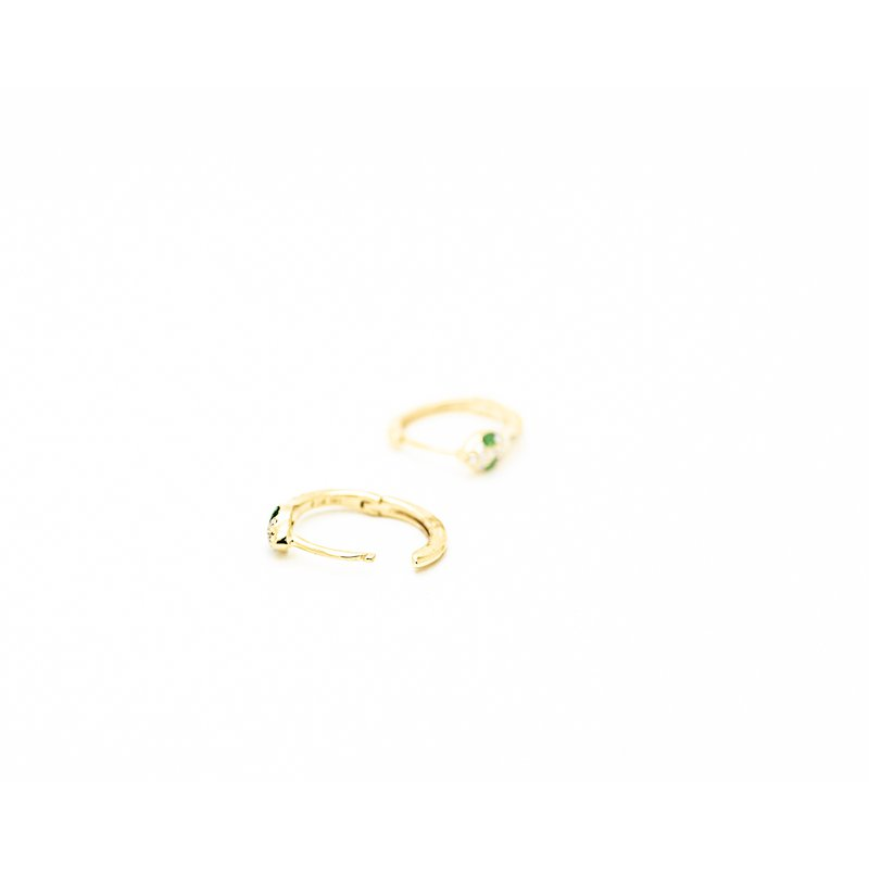 Jewelry Couture Exclusives Tsavorite Serpent Huggie Hoops