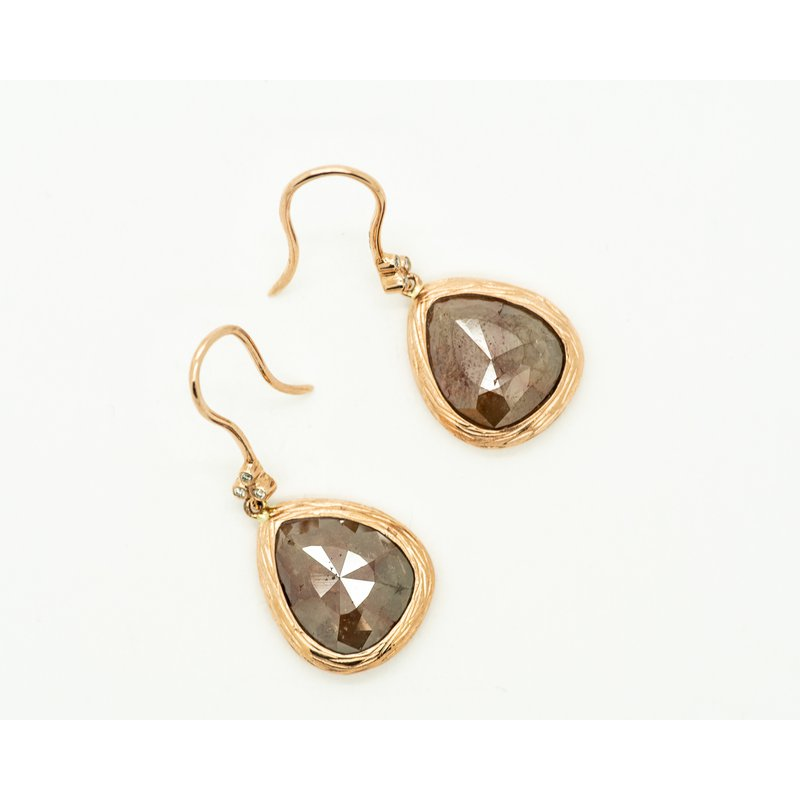 Jewelry Couture Exclusives Tear Drop Faceted Raw Diamond Earrings