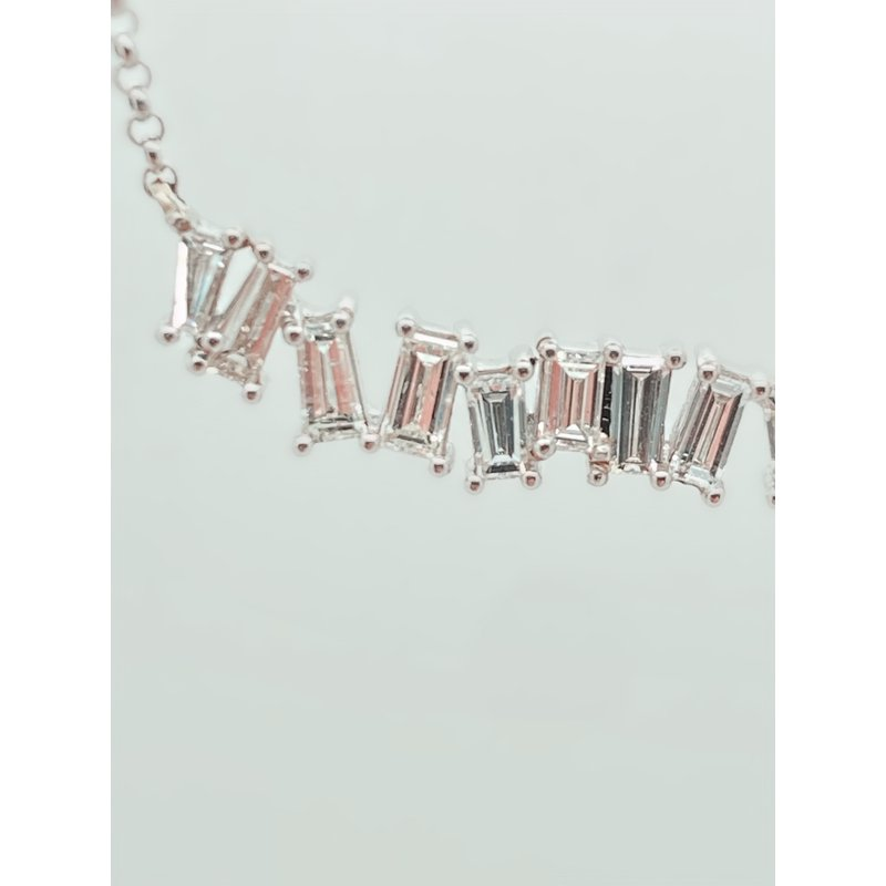Jewelry Couture Exclusives Diamond Baguette Necklace
