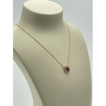 Yellow Gold and Ruby Pendant Necklace