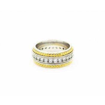 24k Gold Trim Diamond Band