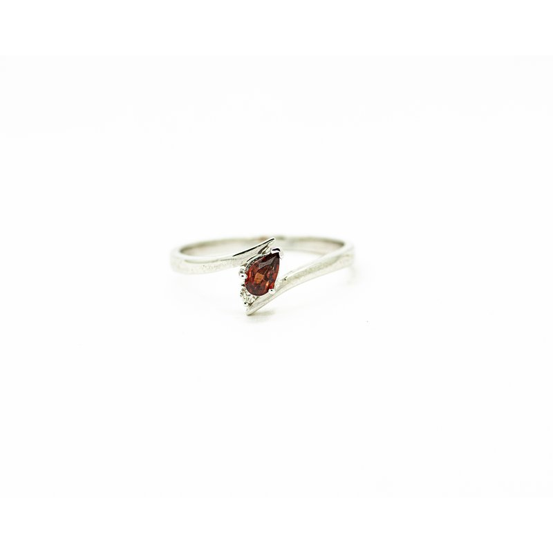 Jewelry Couture Exclusives Delicate Pear Cut Garnet Ring