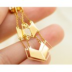 Jewelry Couture Exclusives 14k Yellow Gold Chevron Drop Earrings