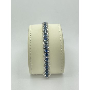Sapphire and Diamond White Gold Bracelet