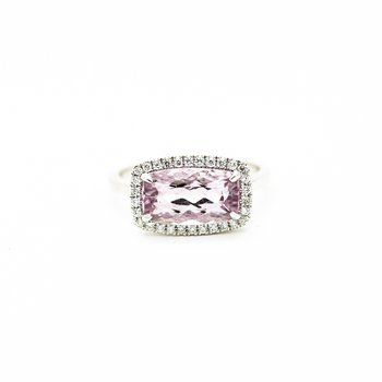 Pink Topaz Cocktail Ring