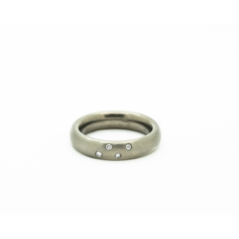Jewelry Couture Exclusives Constellation Titanium Wedding Band