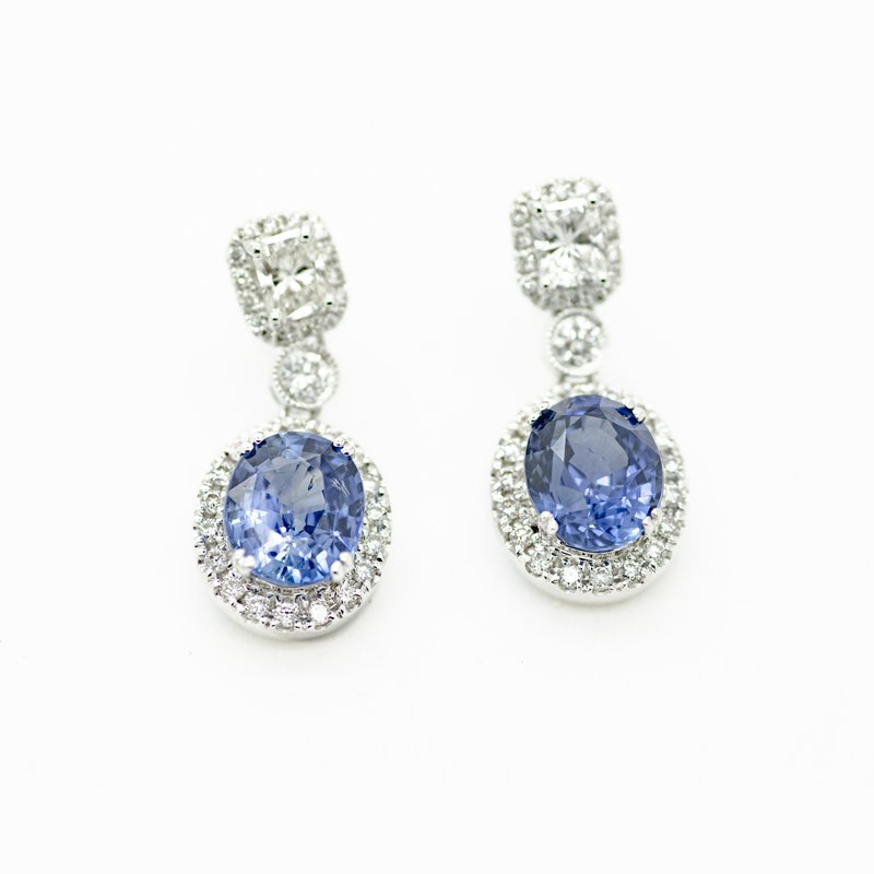Jewelry Couture Exclusives Brilliant Blue Sapphire Drop Earrings