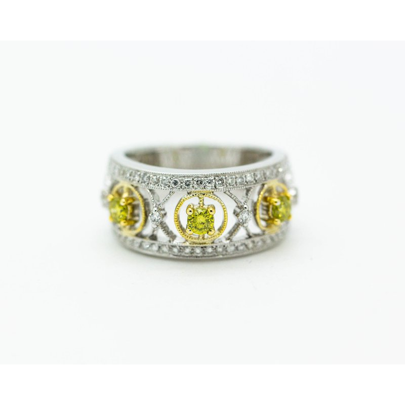 Jewelry Couture Exclusives DECOage Geometric Colored Diamond Band