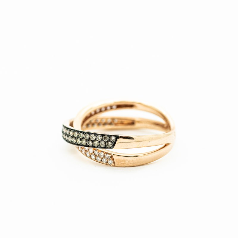 Jewelry Couture Exclusives Two Toned Crossed Band Ring