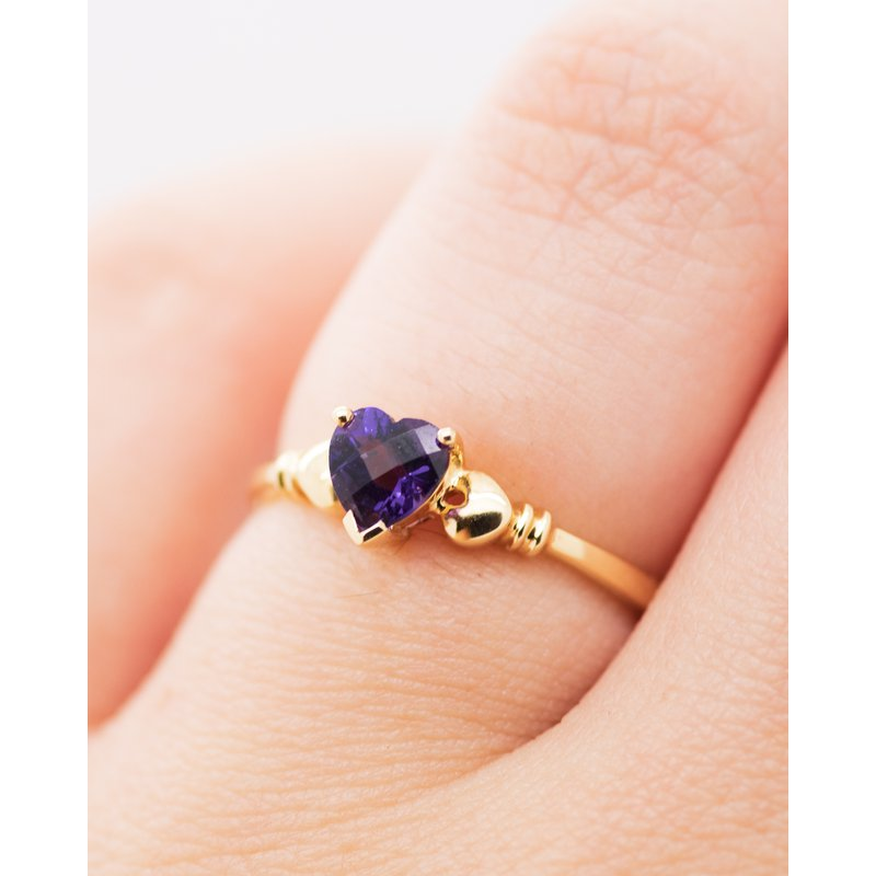 Jewelry Couture Exclusives Heart Cut Amethyst Ring