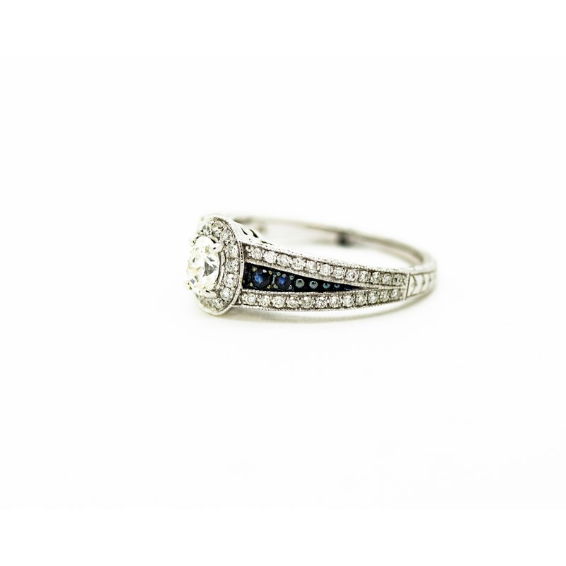 Jewelry Couture Exclusives Signet Style Oval Diamond Wedding Set
