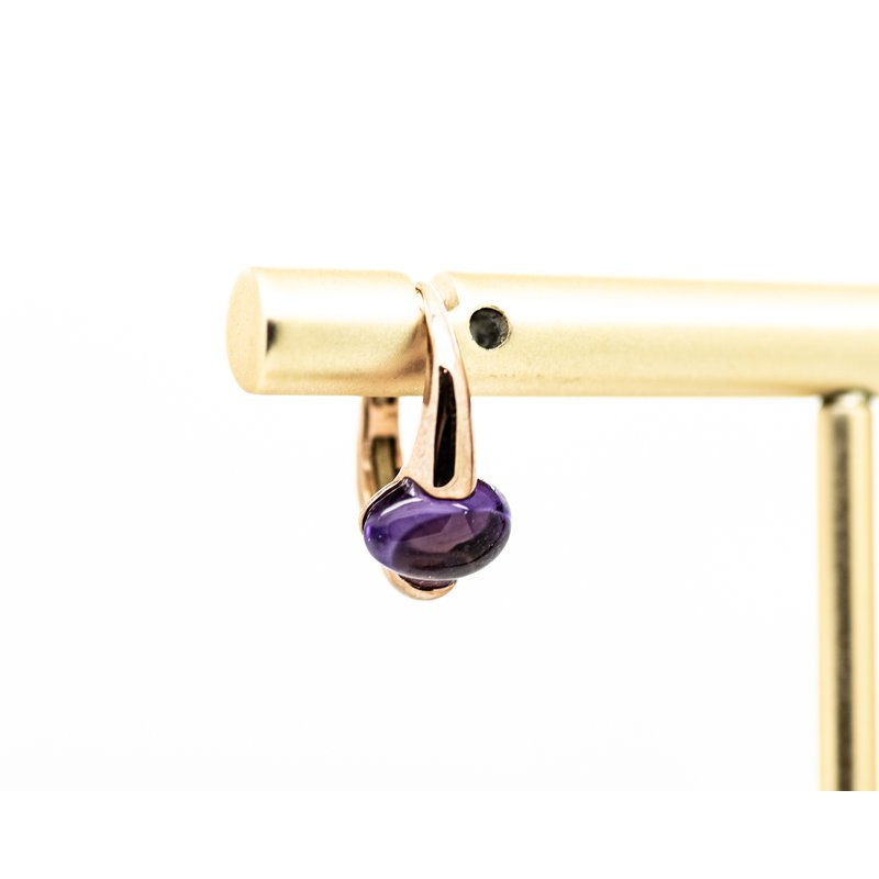 Jewelry Couture Exclusives Amethyst Mini Hoops