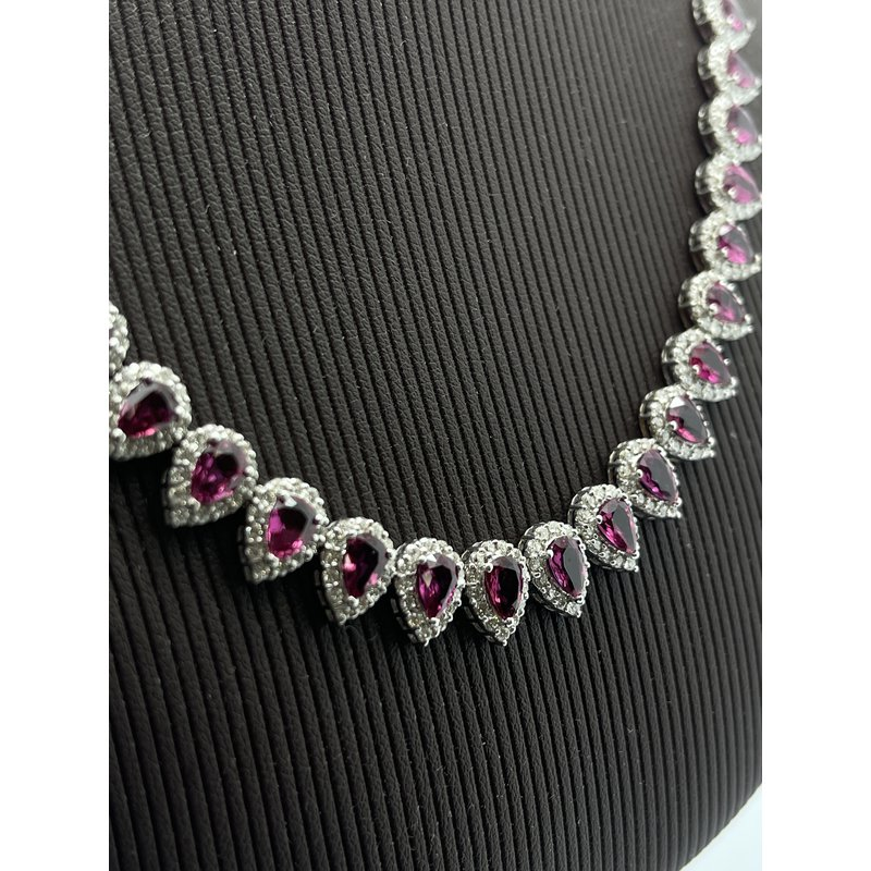 Jewelry Couture Exclusives Ruby and Diamond 18K White Gold Necklace