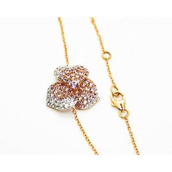 Pink Sapphire Blossom Bracelet