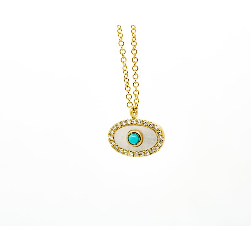Jewelry Couture Exclusives Mother of Pearl Evil Eye Necklace