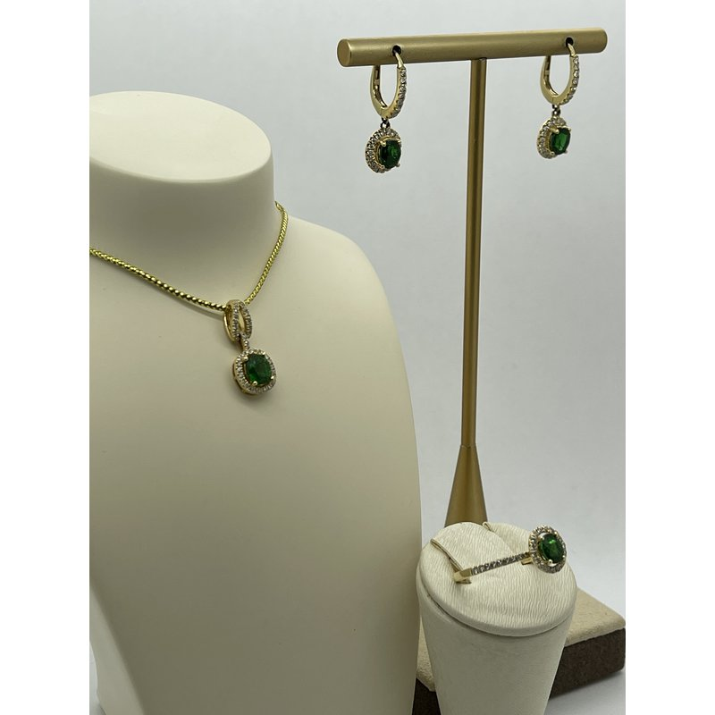 Jewelry Couture Exclusives Tsavorite Trifecta Gift Set - Yellow Gold