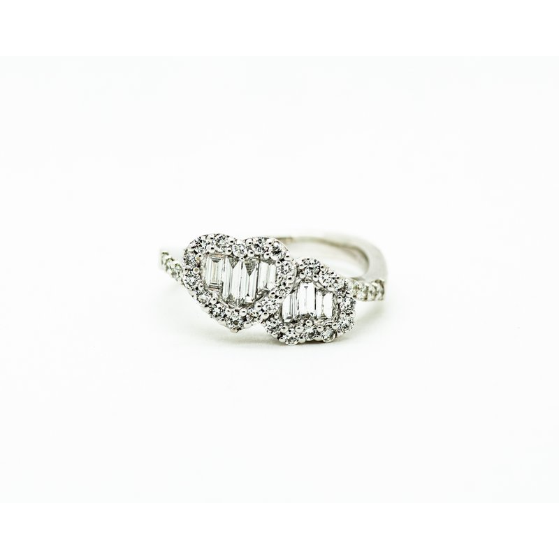 Jewelry Couture Exclusives Double Heart Diamond Ring