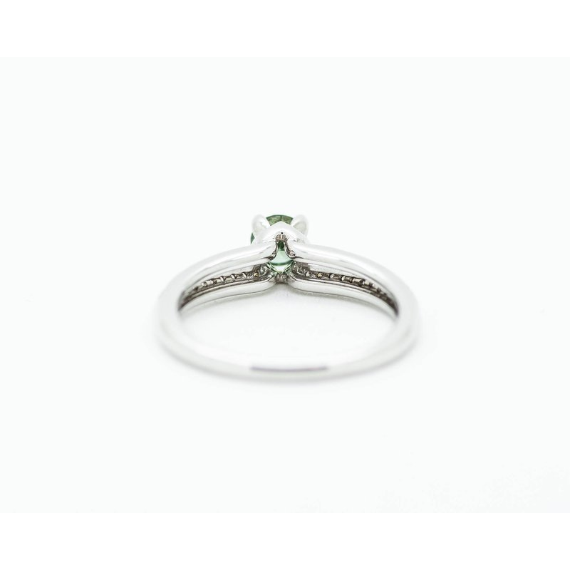 Jewelry Couture Exclusives Dainty Green Diamond Engagement Ring