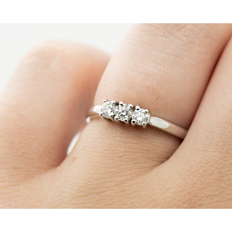 Jewelry Couture Exclusives Dainty 3 Diamond Engagement Ring