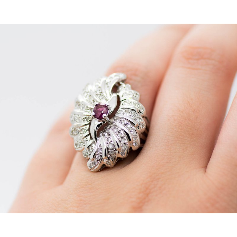 Estate Jewelry Vintage Ruby and Diamond Ring