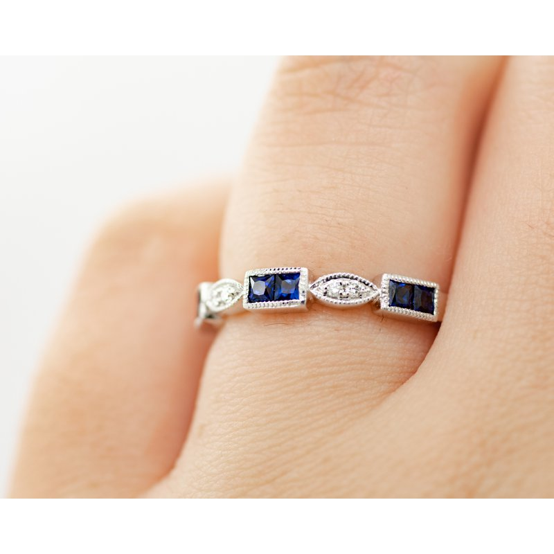 Jewelry Couture Exclusives Eyelet Sapphire and Diamond Band