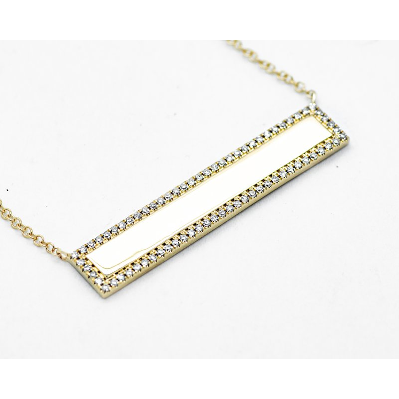 Jewelry Couture Exclusives Diamond Bar Necklace