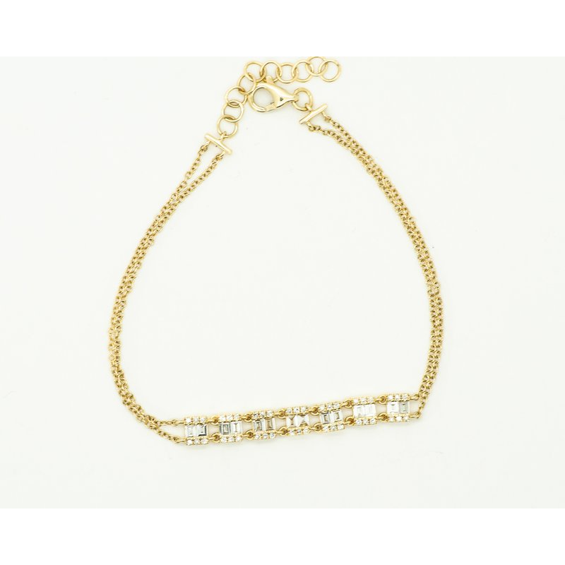Jewelry Couture Exclusives 14k Gold Baguette Diamond Bracelet