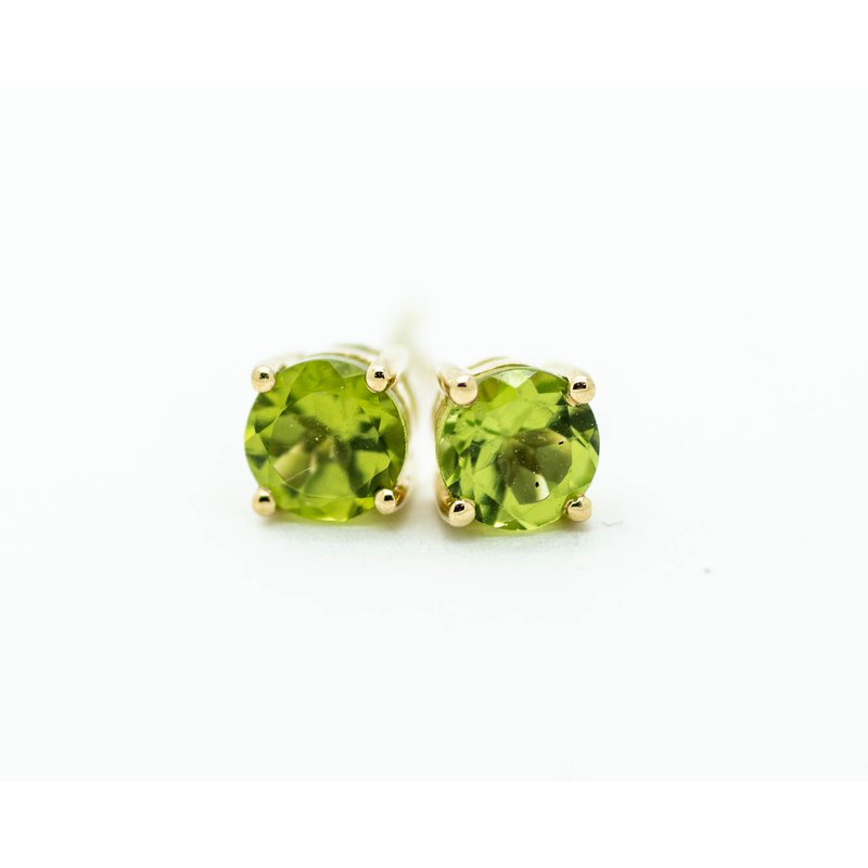 Jewelry Couture Exclusives 14k Yellow Gold Peridot Studs