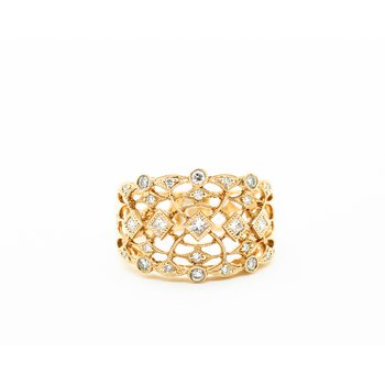 18k Rose Gold Victorian Detail Ring