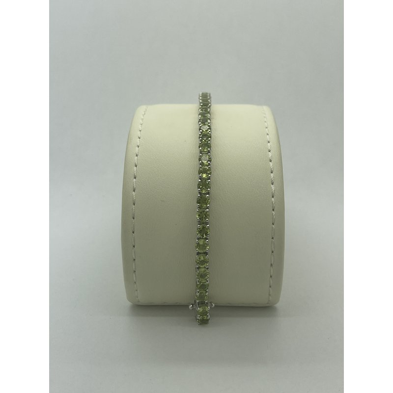"""Jewelry Couture Exclusives 7"""" Peridot Bracelet"""