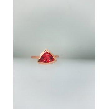 Rubelite Rose Gold Ring