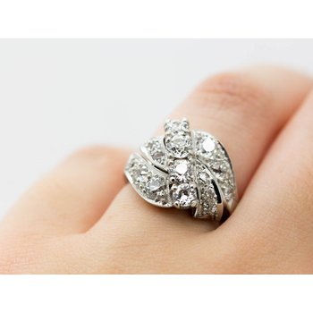 Vintage Platinum Diamond Ring