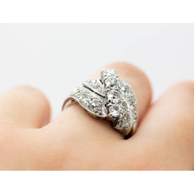 Estate Jewelry Vintage Platinum Diamond Ring