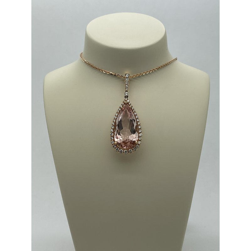 Jewelry Couture Exclusives Morganite and Diamond Pendant