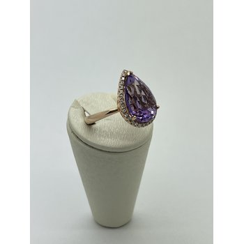 Pear Amethyst Ring