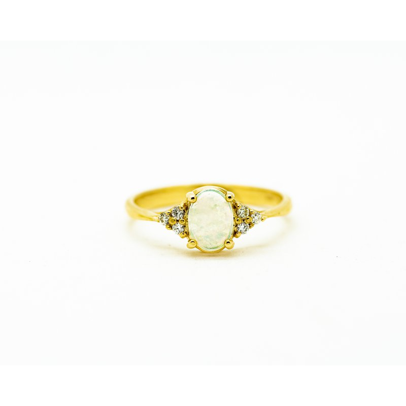 Jewelry Couture Exclusives Diamond Accent Opal Ring