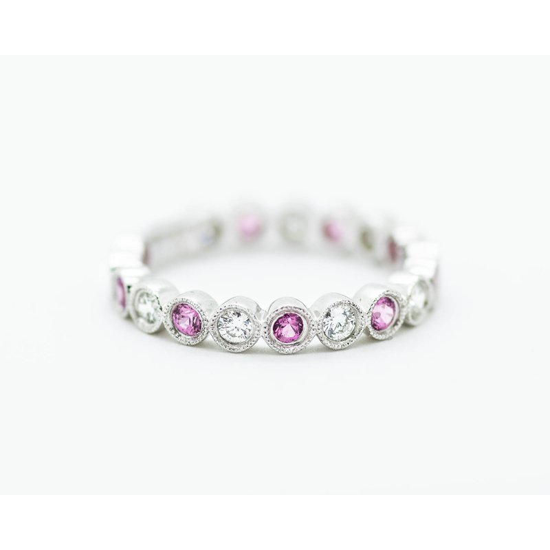 Jewelry Couture Exclusives Pink Sapphire and Diamond Stacking Band