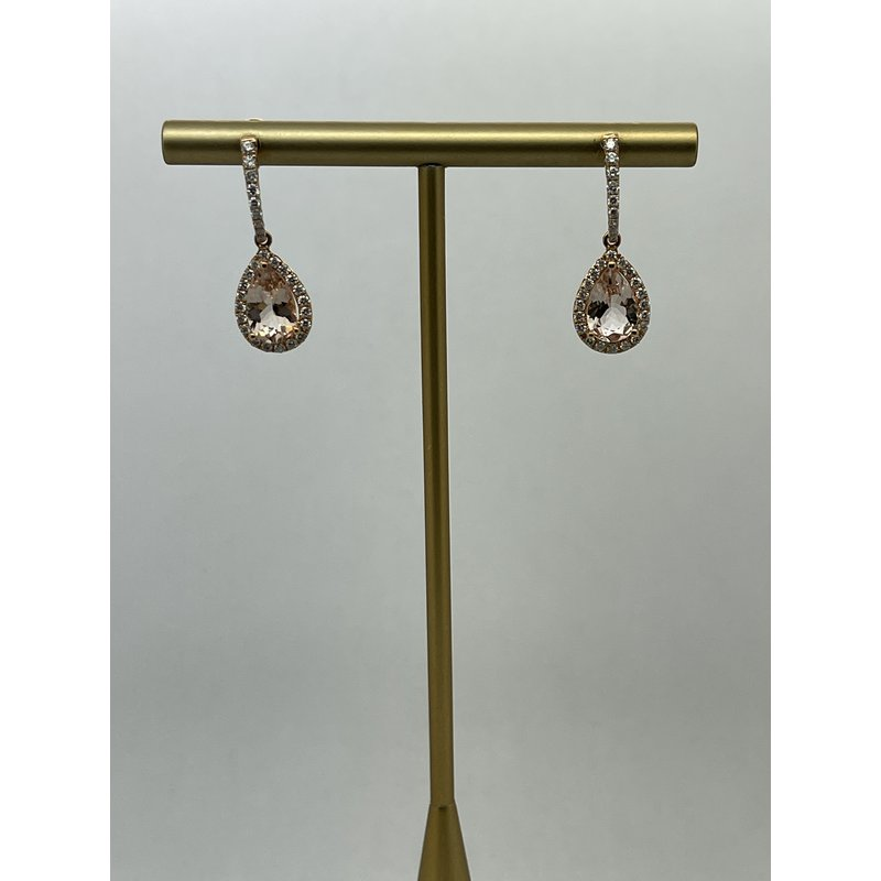 Jewelry Couture Exclusives Morganite and Diamond Rose Gold Earrings