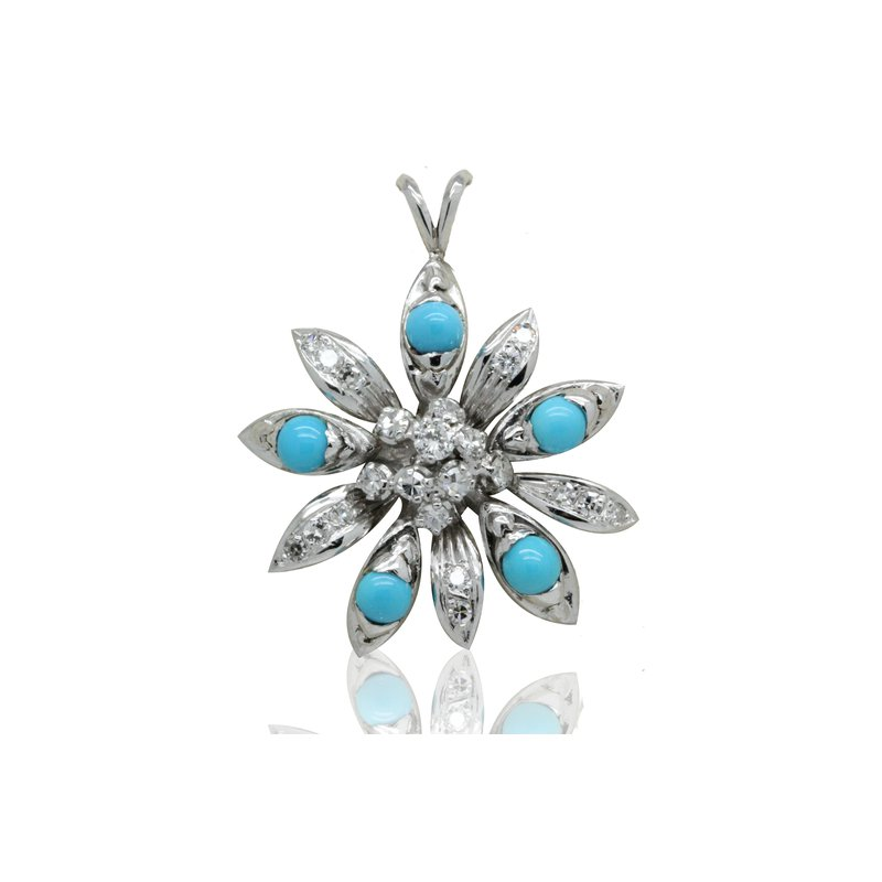 Estate Jewelry Turquoise Pendant