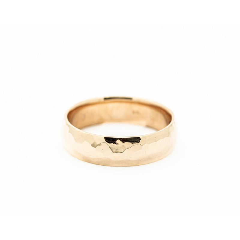 Jewelry Couture Exclusives 14k Rose Gold Hammered Wedding Band