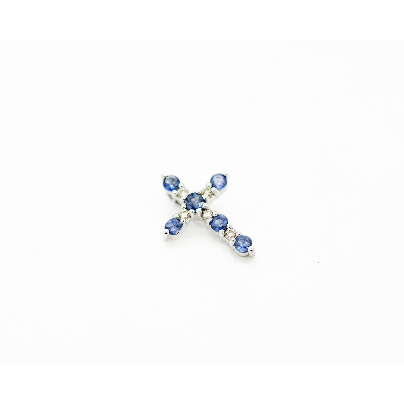 Jewelry Couture Exclusives Petite Diamond and Sapphire Cross