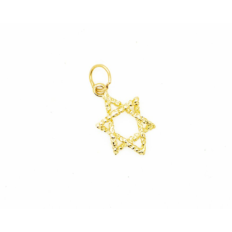 Jewelry Couture Exclusives Twisted Gold Star of David Pendant