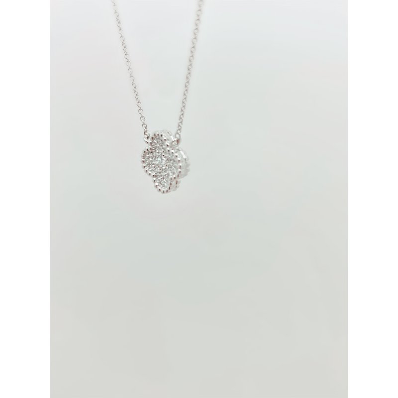 Jewelry Couture Exclusives Diamond Clover Necklace