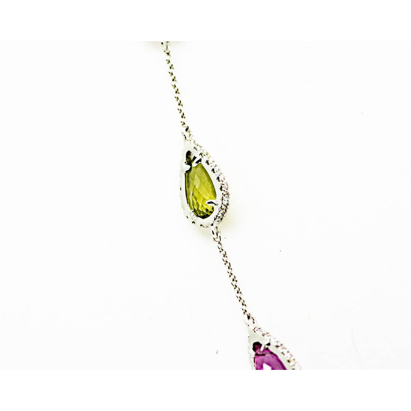 Jewelry Couture Exclusives Mixed Tourmaline Raindrop Necklace