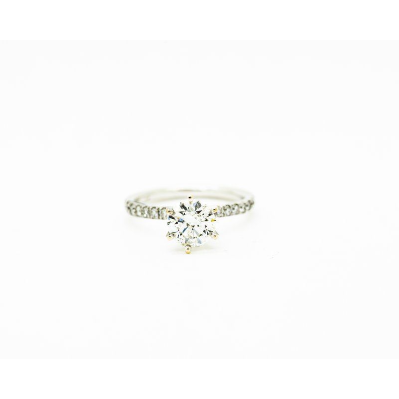 Jewelry Couture Exclusives Diamond Band Solitare Engagement Ring