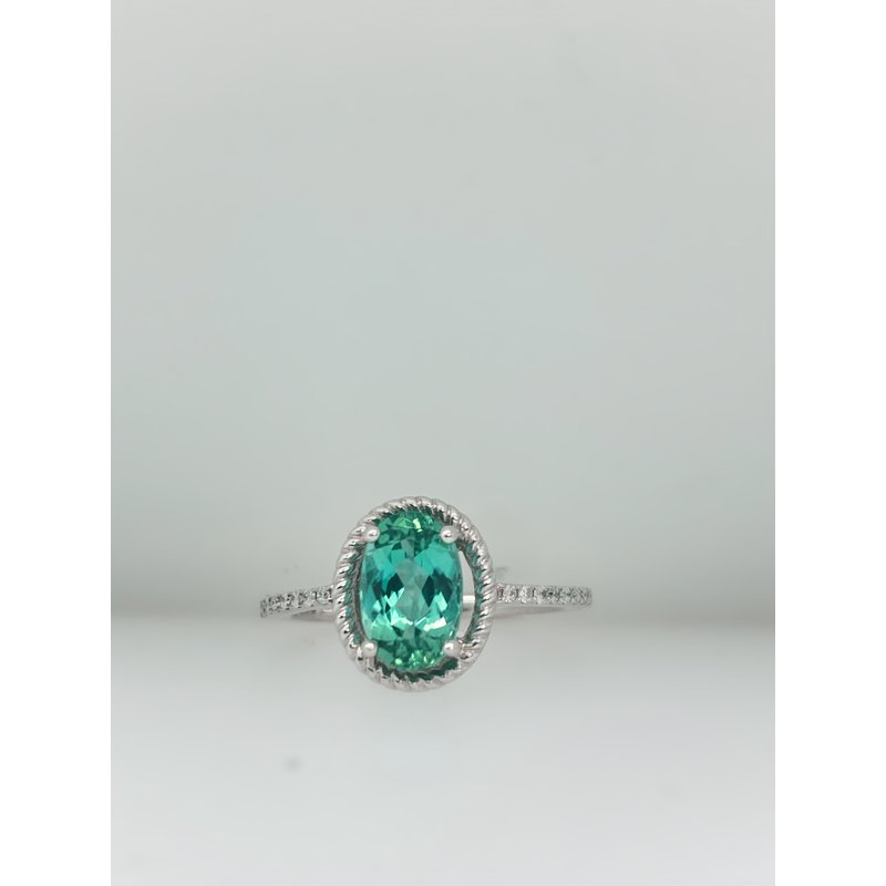 Jewelry Couture Exclusives 1.41CT Green Tourmaline Ring