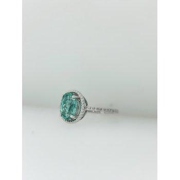 1.41CT Green Tourmaline Ring