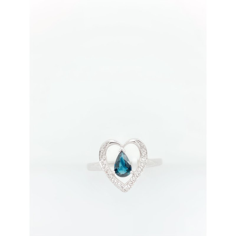 Jewelry Couture Exclusives Pear Sapphire Heart Ring