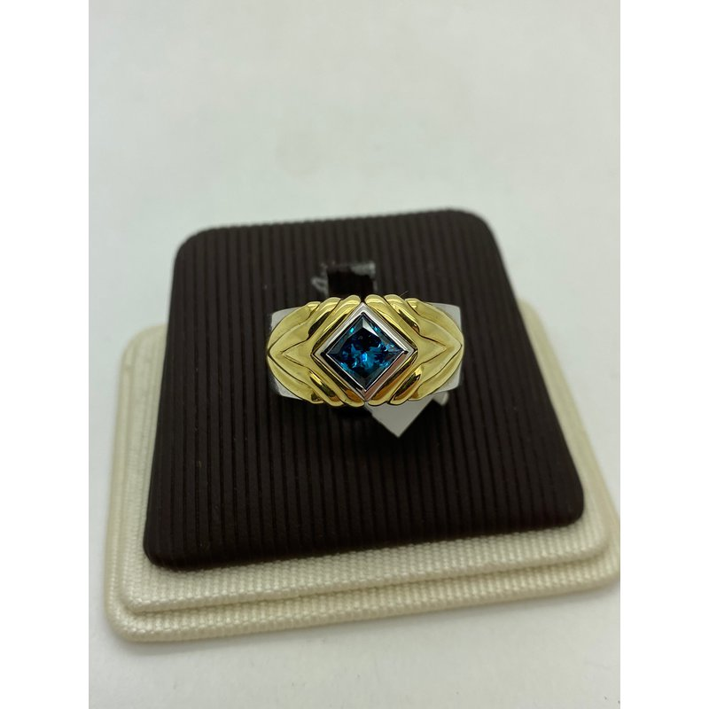 Jewelry Couture Exclusives Blue Diamond Two-Tone Band