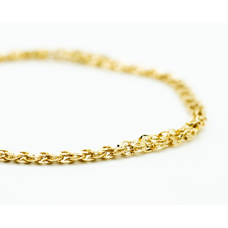Jewelry Couture Exclusives 14k Yellow Gold Textured Stacked Link Bracelet